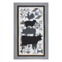 "Buttermilk Farmstead 30"" Panel Black"