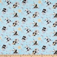 Panda Sanctuary Digital Tossed Allover Panda Blue