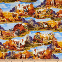 Wild Wild West Wild Horse Collage Multi Sienna