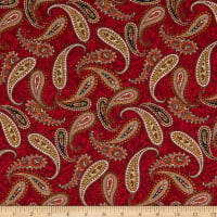 Wild Wild West Paisley Toss Red