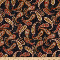 Wild Wild West Paisley Toss Black