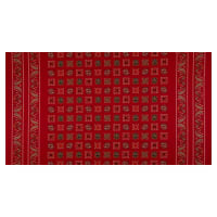 Wild Wild West Bandana Double Border Red