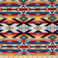 Wild Wild West Serape Blanket Multi Red