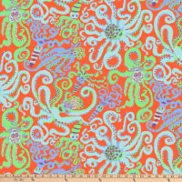 Kaffe Fassett Collective Octopus Orange