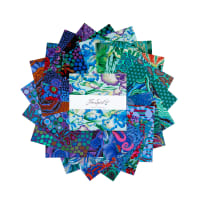 """Kaffe Fassett Collective 10"""" Charm Pack 42 pcs Cold"""
