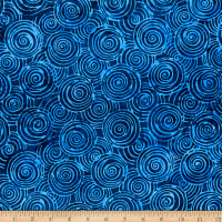 Batik By Mirah Silver Moon Swirls Rosco