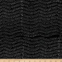 Batik By Mirah Woodland Feast Wavy Dots Black Starlet