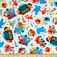 EXCLUSIVE Stretch Knit Sesame Street Loud Noise Toss White