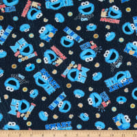 EXCLUSIVE KNIT Sesame Street Cookie Monster Smart Gray