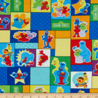 EXCLUSIVE Stretch Knit Sesame Street Character Blocks Multi