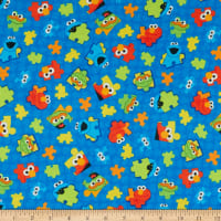 EXCLUSIVE KNIT Sesame Street Puzzle Pieces Royal