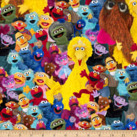 EXCLUSIVE MINKY Sesame Street Group of Characters Multi