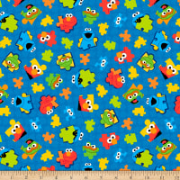 EXCLUSIVE MINKY Sesame Street Puzzle Pieces Royal