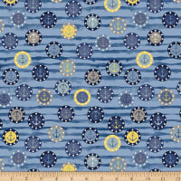 Stoffabric Denmark Looking For Sea Life Anchors Blue