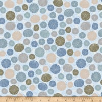Stoffabric Denmark Looking For Sea Life Multi Sea Urchins And Starfish Blue