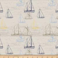 Stoffabric Denmark Looking For Sea Life Sailboats Sand