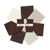 Stoffabric Denmark Nellies Shirtings Assorted Fat Quarters 7pcs Brown