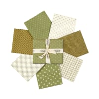 Stoffabric Denmark Nellies Shirtings Assorted Fat Quarters 7pcs Green