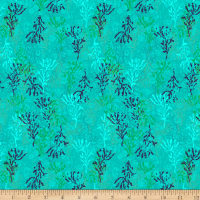 Stoffabric Denmark Sea The Good Things Coral Turquoise