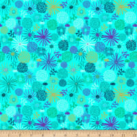 Stoffabric Denmark Sea The Good Things Sea Plants Turquoise