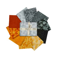 Stoffabric Denmark Solaire Assorted Fat Quarters 10pc Black/Yellow