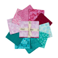 Stoffabric Denmark Solaire Assorted Fat Quarters 10pcs Pink/Turquoise