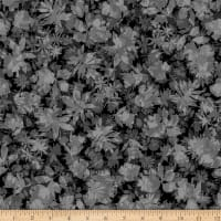 Stoffabric Denmark Solaire Leaves Anthracite