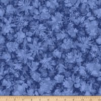 Stoffabric Denmark Solaire Leaves Dark Blue