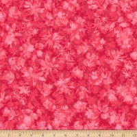 Stoffabric Denmark Solaire Leaves Red