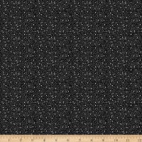 Stoffabric Denmark Solaire Small Dots Black