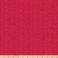 Stoffabric Denmark Solaire Small Dots Red