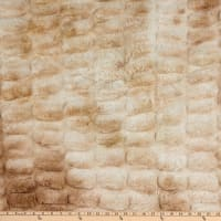 E.Z. Fabric Dreamy Bunny Pelted Faux Fur Minky Creme