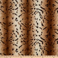 Brown Pearl Leo Faux Fur Minky Brown
