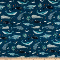 Windham Fabrics Whale Tales Whales Ocean