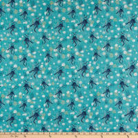 Windham Fabrics Whale Tales Octopus Sea Green