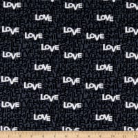 Windham Fabrics Type Cast Happy Words Grey