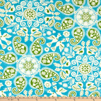 PKL Studio Peruvian Craft Indoor/Outdoor Turquoise