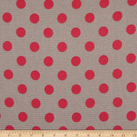 Italian Designer Viscose Thermal Stretch Knit Polka Dot Grey/Pink