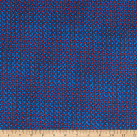 Italian Designer Cotton Broadcloth Micro Dot Red/Blue/Navy