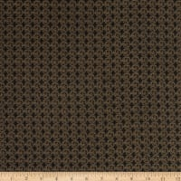 Italian Designer Cotton Batiste Chocolate Brown/Black