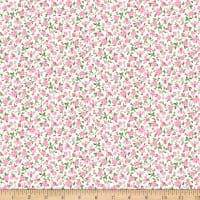 Gertie Rayon Challis Ditsy Floral Pink/Cream
