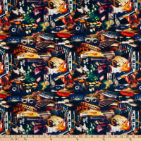 E.Z. Fabric Exclusive Polyester Jersey Knit Instruments on Spun Polyester Jersey Knit  Exclusive  Multi