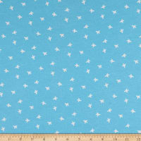 E.Z. Fabric Exclusive Polyester Stretch Jersey Knit Up and Away Planes Sky