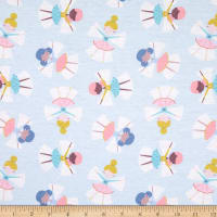 E.Z. Fabric Exclusive Polyester Jersey Knit Snow Angel Light Blue