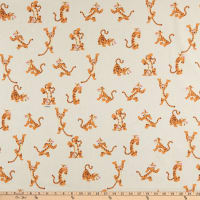 ArtCo Prints Winnie the Pooh Tigger Broadcloth Ivory