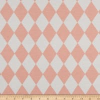 ArtCo Prints Diamonds Ottoman Pastel Pink