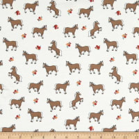 ArtCo Jersey Horses Off White