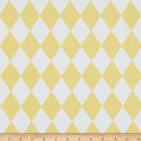 ArtCo Prints Diamonds Ottoman Pastel Yellow