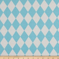 ArtCo Prints Diamonds Ottoman Pastel Blue