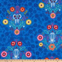 ArtCo Prints Folklore Baroque Ottoman Blue